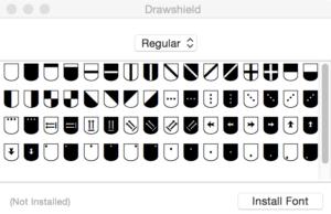 drawshield-font